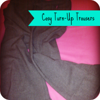 cosy turn-up trousers