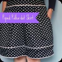 polka piped skirt