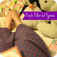 purple polka-dot pjs