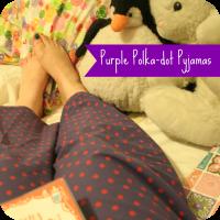 purple polka-dot pjs