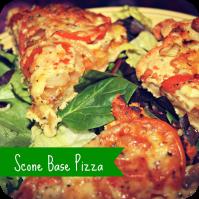 scone base pizza